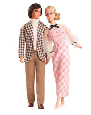 ken et barbie en 1973
