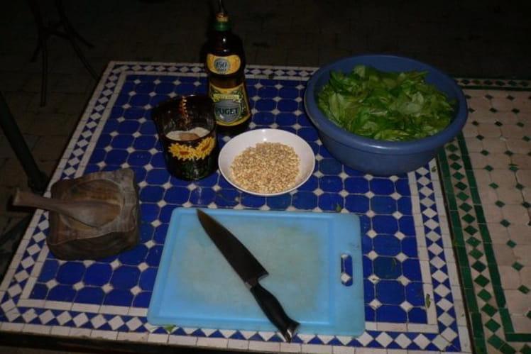 Sauce pesto sans parmesan