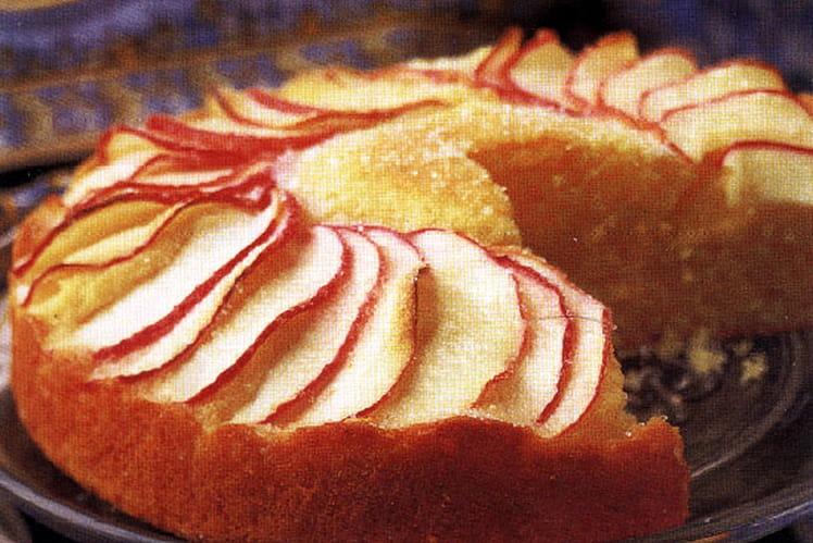 Gâteau coiffé de pommes