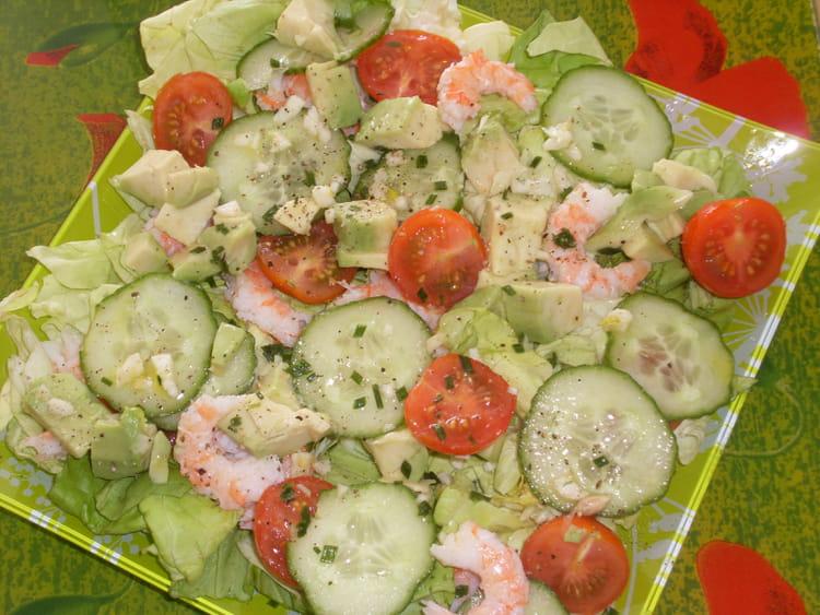 Recette de salade de crevettes et d 39 avocat - Comment cuisiner un avocat ...