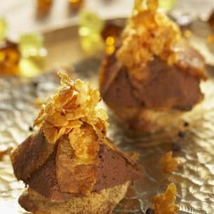 pyramide épicée au chocolat et ananas