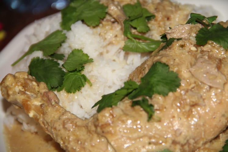 Curry de lapin a la pomme