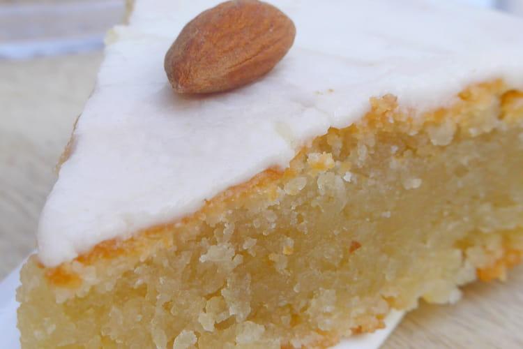 Gâteau fondant aux amandes vegan