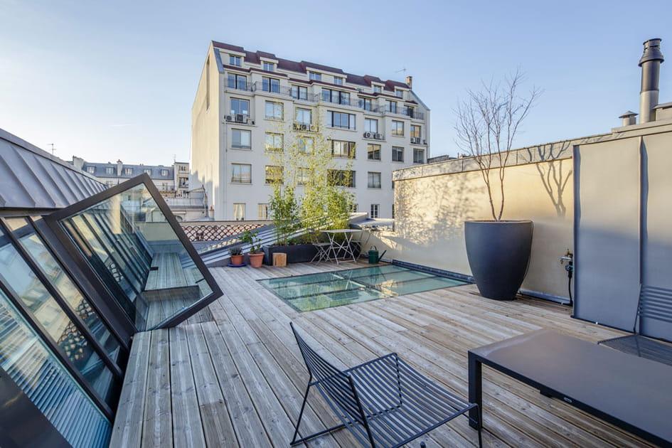 Une terrasse sur le toit