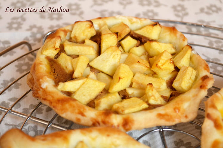 Tartelettes aux pommes à la crème de spéculoos
