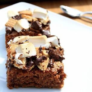 brownie façon s'mores (à la guimauve et chocolat)