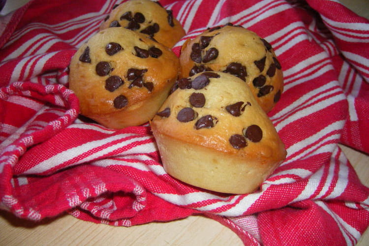 Muffins vanillés aux pépites de chocolat