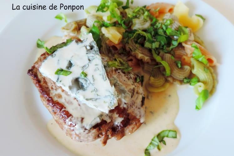 Steak parfumé au bleu de chèvre cuit à basse température
