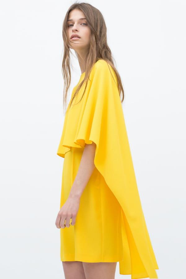 Robe jaune de zara for Robe jaune pour mariage