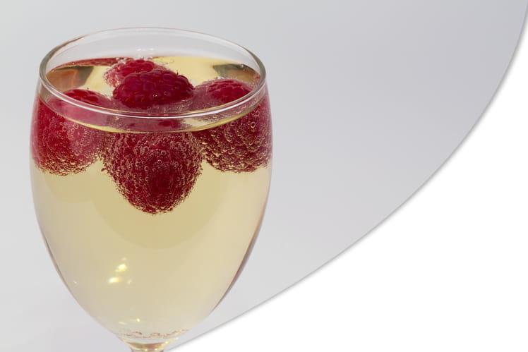 Champagne-framboises