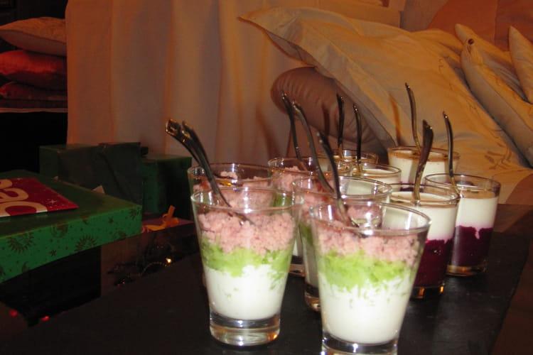 Verrines préférées des enfants (concombre, jambon et Vache qui rit)