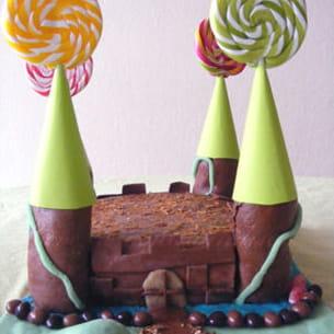 gâteau château-fort en 3d