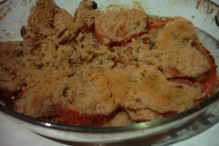 Crumble tomates-oignons allégé