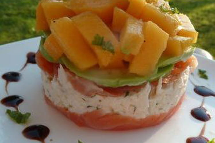 Timbale Crabe et Mangue