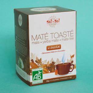 maté toasté bio aux fèves de cacao.