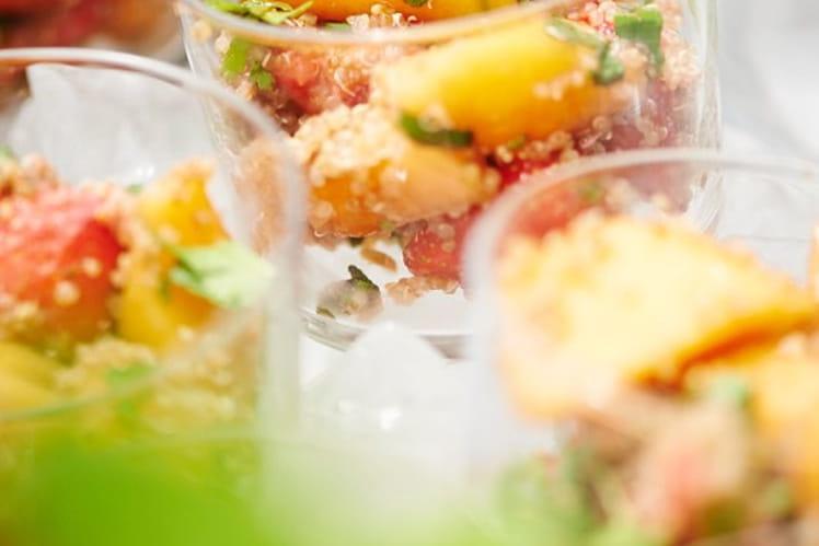 Salade de fruits au quinoa belge bio
