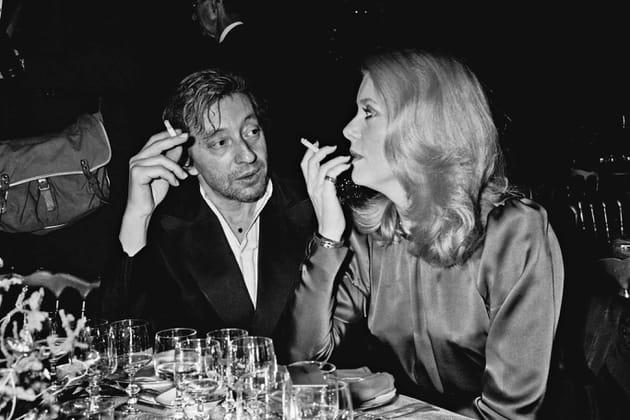 """Serge Gainsbourg et Catherine Deneuve à la soirée """"Vendômes"""""""