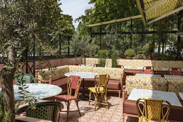 la terrasse du restaurant la gare paris. Black Bedroom Furniture Sets. Home Design Ideas