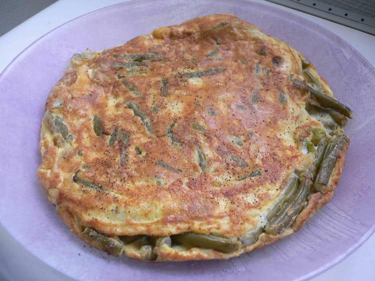recette omelette de haricots verts au raifort la recette facile. Black Bedroom Furniture Sets. Home Design Ideas