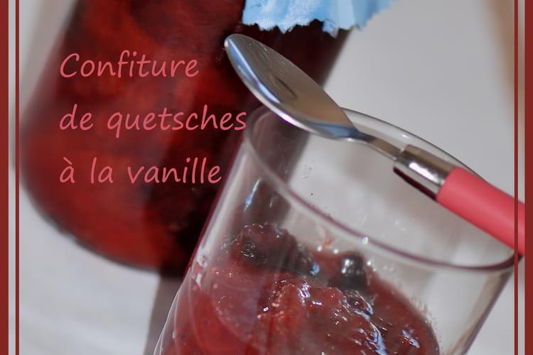 Confiture de quetsches à la vanille