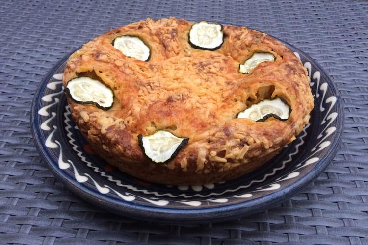 Cake à la courgette gratiné au cheddar
