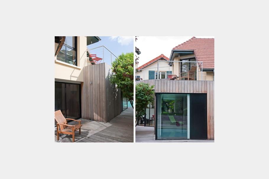 Une extension qui se fond dans le paysage esprit plage for Architecture qui se fond dans le paysage