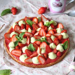 tarte fraise-menthe façon fantastik