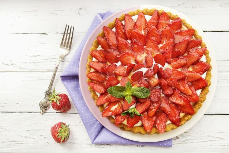 Tarte aux fraises et confiture de fraises