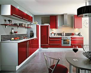 Vive la couleur tendance bordeaux - Cuisine couleur bordeaux brillant ...