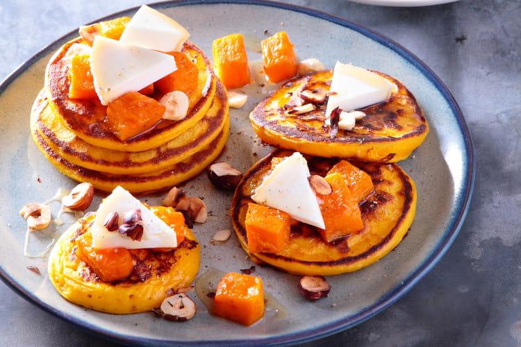 Petits pancakes à la courge butternut rôtie  et charolais AOP