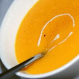 soupe à la courge butternut et à l'orange