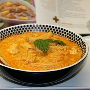 laksa de poulet - soupe malaisienne