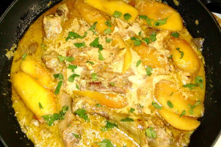 Wok de poulet aux mangues