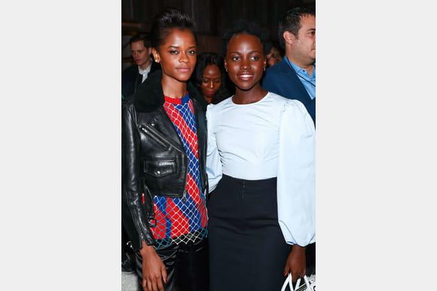 Letitia Wright et Lupita Nyong'o