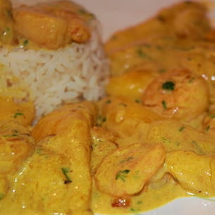 curry de crevettes à la mangue