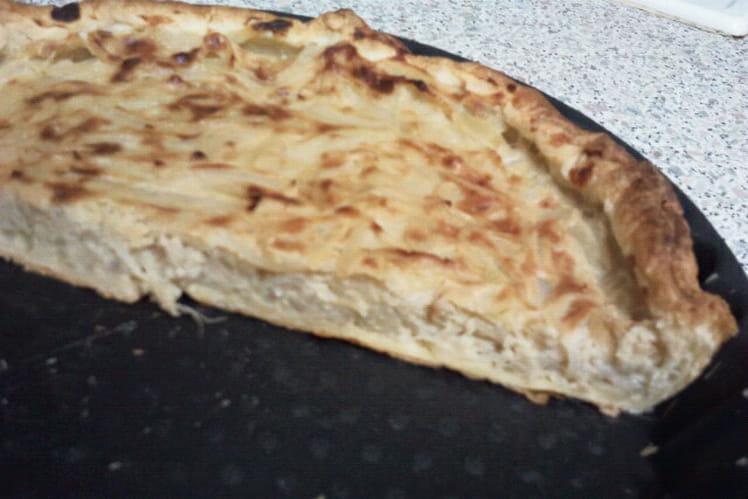 Tarte à l'oignon et parmesan