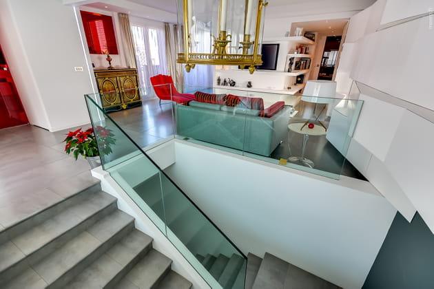 Un escalier transparent