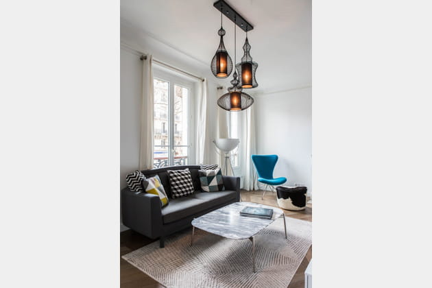 Un salon intime et design