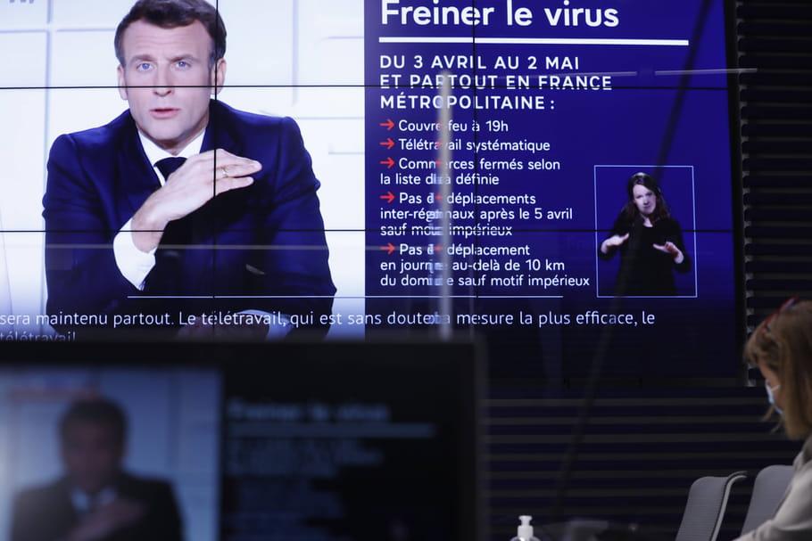 Allocution de Macron: ce détail qui a choqué... et 2bourdes en direct