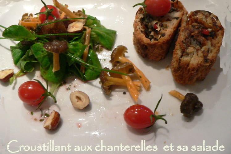 Croustillant aux chanterelles et sa salade