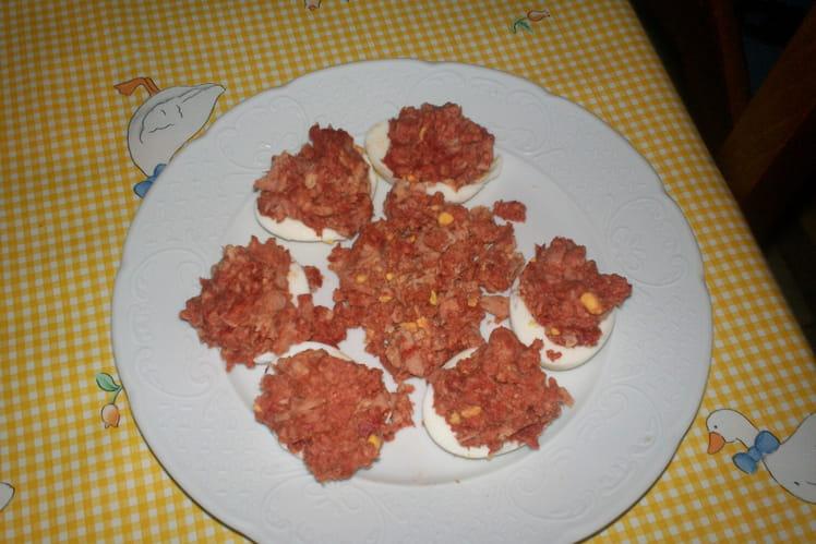 Oeufs aux thon et tomate