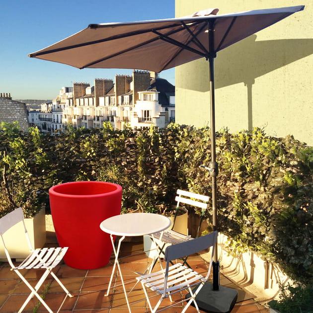 demi parasol cuba de my little jardin. Black Bedroom Furniture Sets. Home Design Ideas