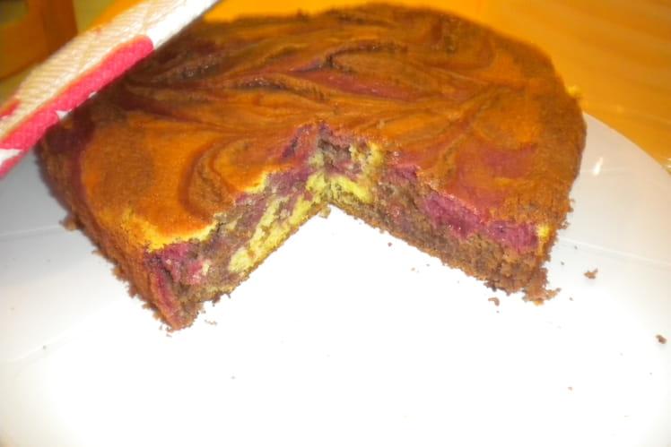 Gâteau chocolat, framboise, citron