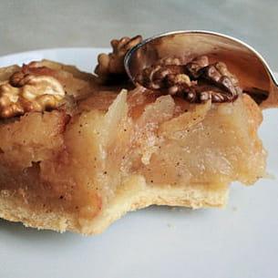 tatin pommes - coings aux noix