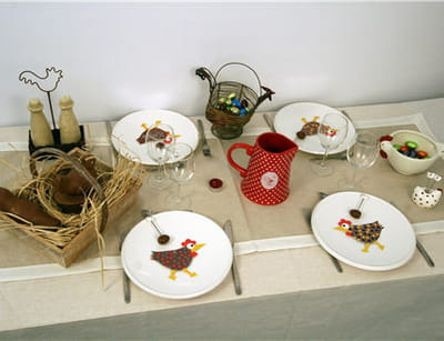 une table au look traditionnel