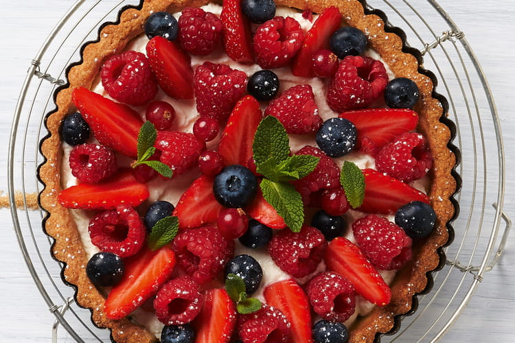 Tarte légère aux fruits rouges et Carré Frais