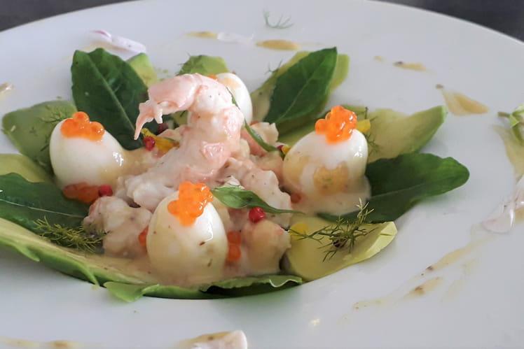 Salade gourmande aux langoustines