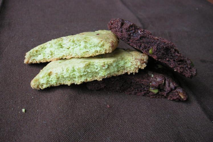 Cookies verts et noirs