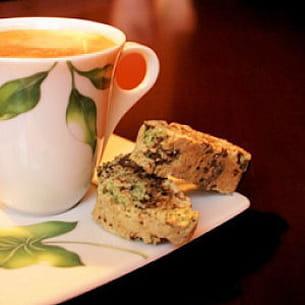 biscottis pistache et pépites de chocolat noir