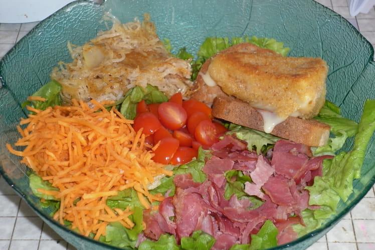 Salade Van gogh au coulommier pané